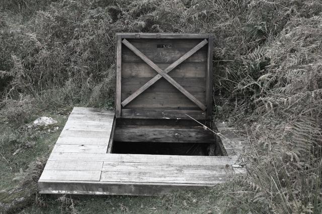 Trap door to Uamh an Ard Achadh, High Pasture Cave